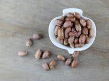 Pinda's, geroosterde en gezouten pinda's Stock Foto