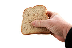 Pindakaas en geleisandwich die op wit wordt geïsoleerdi Royalty-vrije Stock Foto