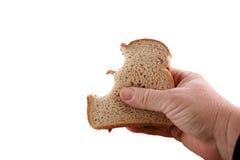 Pindakaas en geleisandwich die op wit wordt geïsoleerdi Royalty-vrije Stock Foto's
