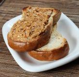 Pindakaassandwich stock fotografie
