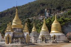 Pindaya świątynia Pindaya, Myanmar - Zdjęcie Stock
