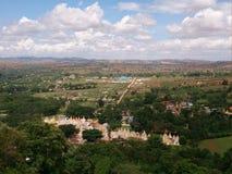Pindaya Cave. Beautiful panorama of Pindaya, Shan State stock photo