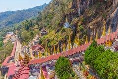 Pindaya grottor Fotografering för Bildbyråer