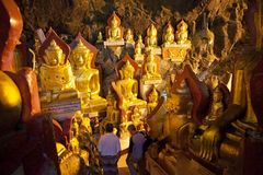 Pindaya grottor Royaltyfria Foton