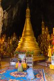 Buddhas in Pindaya caves, Myanmar royalty free stock photo