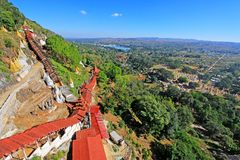 Pindaya Zawala się, Pindaya, Myanmar zdjęcie stock