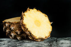 Pine apple close up. Fresh fruits Royalty Free Stock Photo