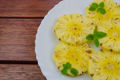 Pine apple slices Stock Photos