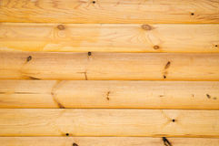 Pine balk wall Royalty Free Stock Photo