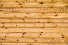Pine balk wall Stock Image