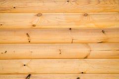 Pine balk wall. Background pattern of natural pine balk wall Royalty Free Stock Photos