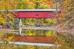 Pine Bluff Covered Bridge Stock Photo