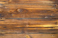 Pine board. Wooden covering, part of a building under olden time Royalty Free Stock Photography