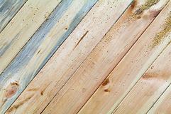 Pine boards different textures fit tightly. Located diagonally across the frame. Seen of wood bark Royalty Free Stock Photos