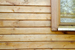 Pine boards with segment of window Stock Photos