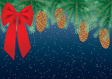 Pine branches royalty free illustration
