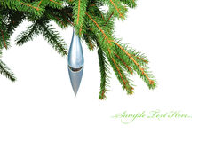 Pine branches and Christmas decoration Stock Photography