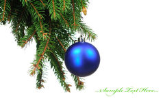 Pine branches and christmas decoration Stock Photo
