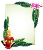 Pine branches and decorations Royalty Free Stock Photos