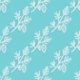 Pine branches pattern Stock Photo