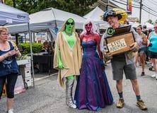 Pine Bush UFO Fair Alien Stroll Royalty Free Stock Image