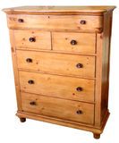 Pine Chest of Drawers Stock Image