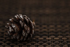 Pine Cone as Christmas Toys and Decorations Royalty Free Stock Image