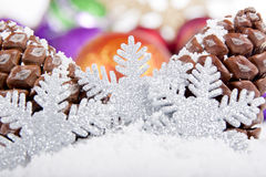 Pine Cone Christmas Decoration Royalty Free Stock Photography