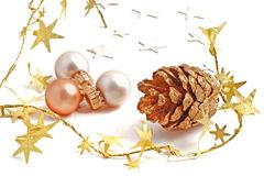 Pine Cone Christmas Decoration Royalty Free Stock Images
