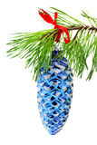 Pine Cone Christmas Ornament Stock Images