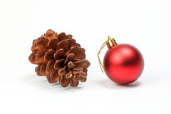 Pine cone Christmas ornament Stock Photography