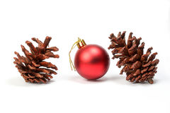 Pine cone Christmas ornament Royalty Free Stock Image