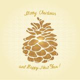 Pine cone Christmas tree Stock Images