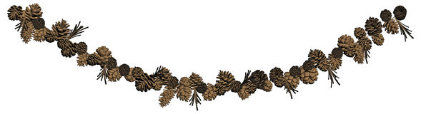 Pine Cone Garland Decoration Royalty Free Stock Photo
