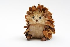 Pine Cone Hedgehog Stock Photo