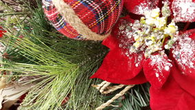 Pine Cone Twig Christmas Background Stock Photography