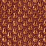 Pine cone vector pattern background. Pine cone, pine cones, fir cone, pine tree cone Stock Photography