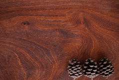 Pine cone. On wooden background Stock Photography