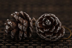 Pine Cones as Christmas Toys and Decorations as Christmas Toys a Stock Image