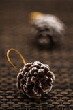 Pine Cones as Christmas Toys and Decorations Stock Image