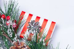 Pine Cones and Gifts Stock Images