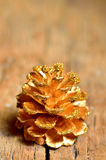 Pine cones  on old wood Royalty Free Stock Photography
