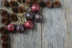 Pine cones and Rustic Bells Royalty Free Stock Images