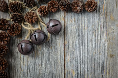 Pine cones and Rustic Bells Stock Image