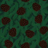 Pine Cones Seamless Pattern. Seamless Pattern with Pine Cones Stock Image