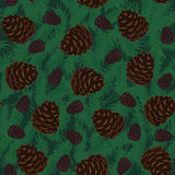 Pine Cones Seamless Pattern. Seamless Pattern with Pine Cones Royalty Free Stock Photo