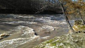 Pine creek a warm beautiful February day stock image