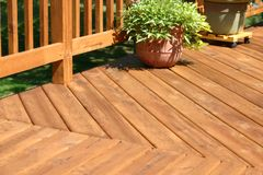 Pine Deck Royalty Free Stock Photography
