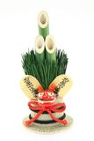 Pine decoration. In Japan, New Year, ornaments made ​​of pine and bamboo, there are custom decorated in front of the gate of the house Stock Photos