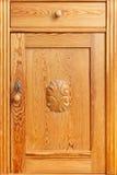 Pine drawer door wooden ornament Stock Photos